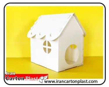 خانه حیوانات با کارتن پلاست