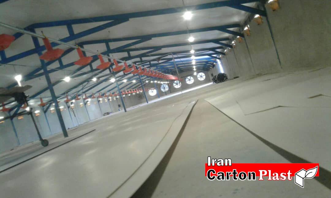 2020112 1 - پوشش سقف سوله با کارتن پلاست