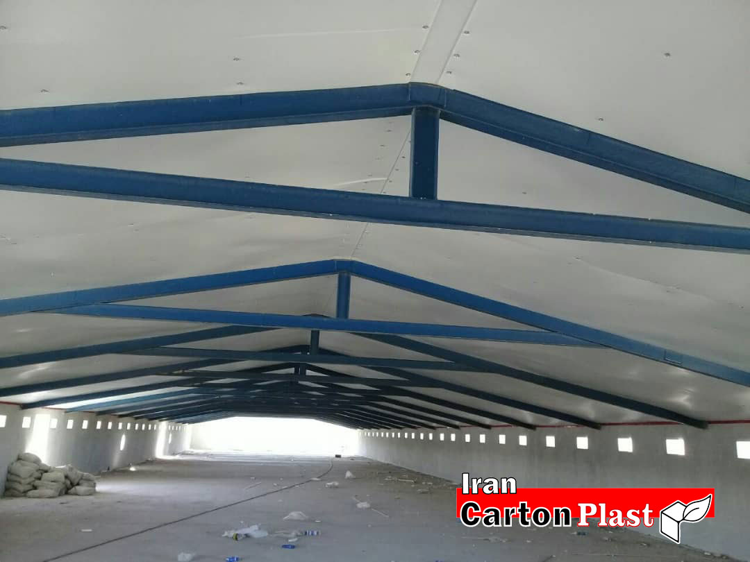 2020113 - پوشش سقف سوله با کارتن پلاست