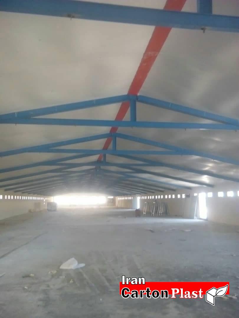 2020116 - پوشش سقف سوله با کارتن پلاست