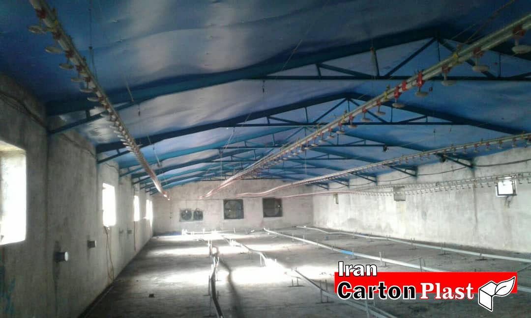 2020119 - پوشش سقف سوله با کارتن پلاست