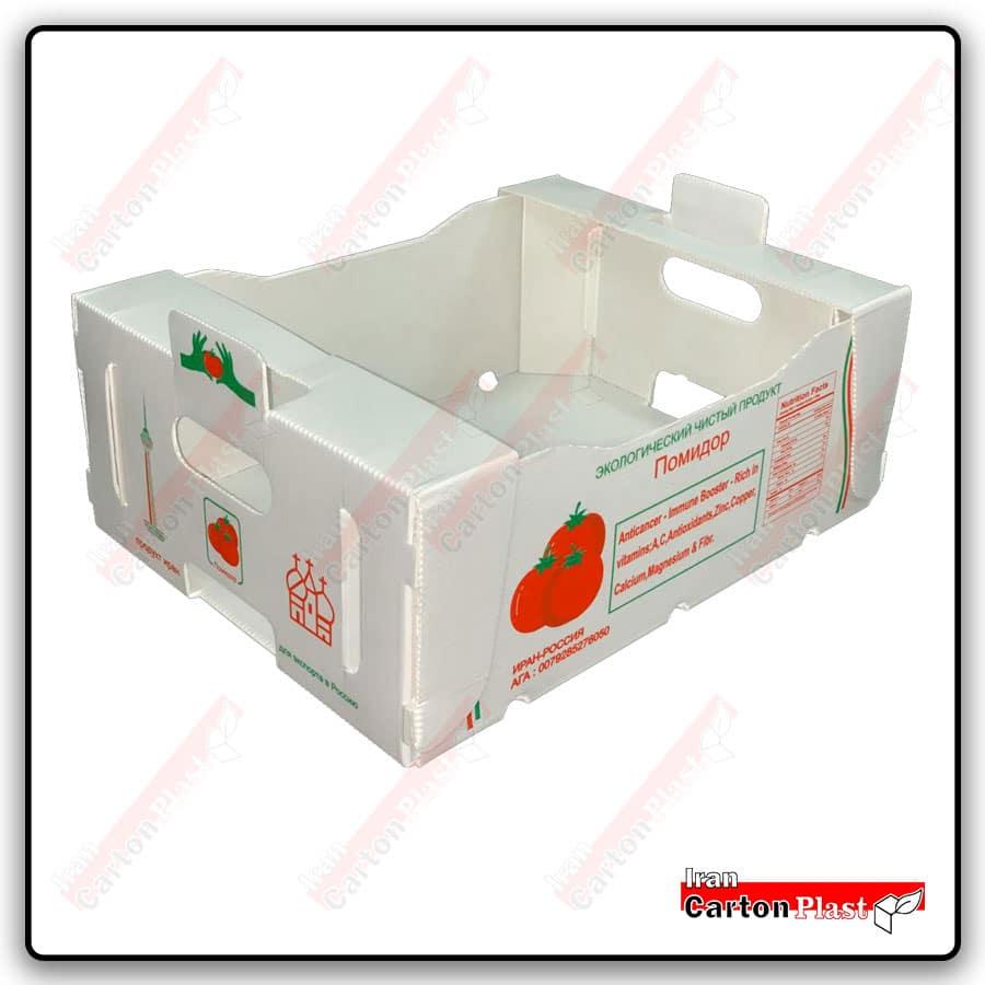 401m - جعبه گوجه فرنگی کارتن پلاست