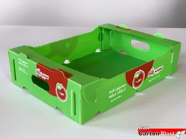 جعبه سیب کارتن پلاست