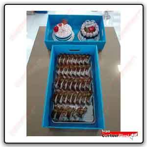 box of sweets and cakes - چاپ حرفه ای طرح دلخواه روی ورق کارتن پلاست