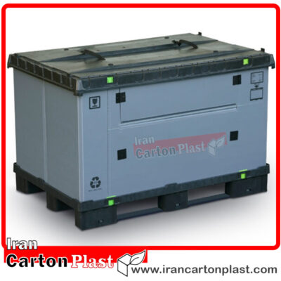 box pallet 400x400 - باکس پالت ساخته شده از کارتن پلاست